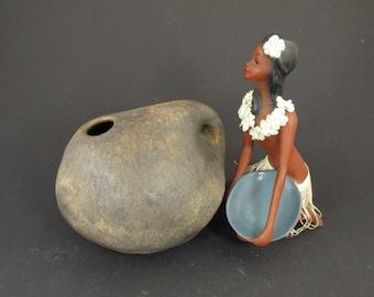 Vintage Vase by Ruscha ART, rare shape, model B-3, brown, mid century, 70s