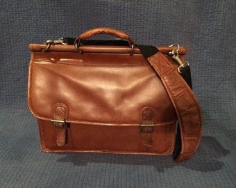 McKlein Leather Laptop Briefcase Messenger Bag