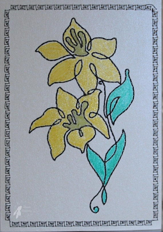 machine embroidery on card stock