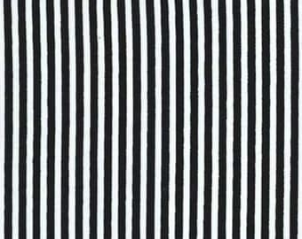 Little Black and White Stripe by Michael Miller - CX6574-BLAC-D