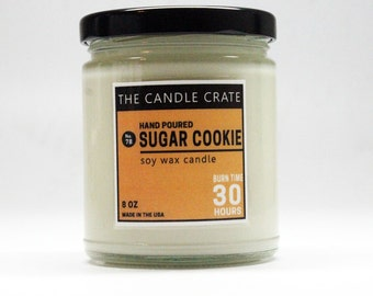 Sugar Cookie 8 Ounce Soy Wax Candle