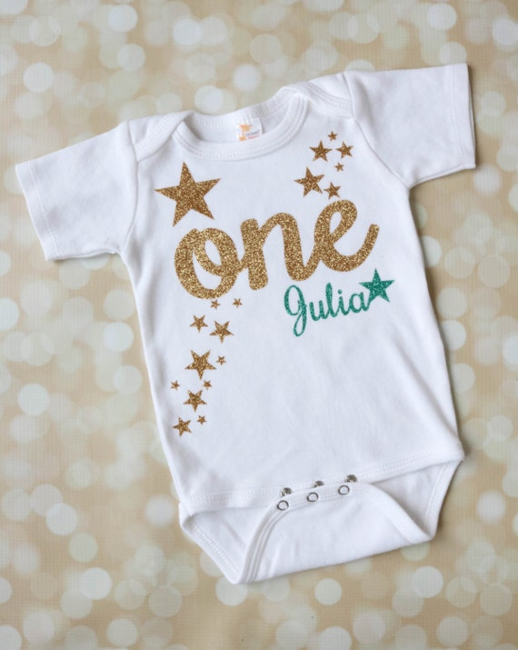 twinkle twinkle little star shirt first birthday aqua and