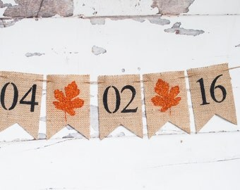Fall Save The Date Banner, Fall Engagement Burlap Banner, Save The Date Banner, Fall Wedding Photo Prop, Engagement Photo Prop, B132