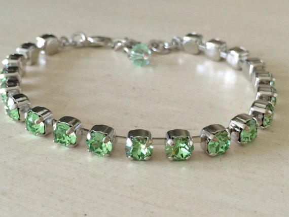Stackables Crystal Peridot Bracelet