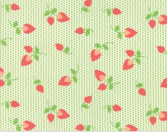 SALE!! 1/2 Yard Sundrops by Corey Yoder for Moda - 29012-18 Floral Rosebuds Celery