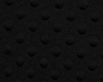 1 Yard Dimple Minky Fabric by Shannon Fabrics -F081 Black