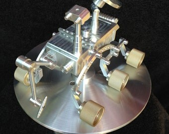 Planetary  Rover - Space Art - Space Exploration - Aluminum Sculpture - Mars Rover - Rocket Ship - Space Shuttle