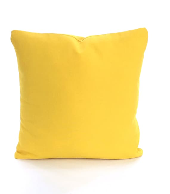 Solid Decorative Throw Pillows : Solid Yellow Pillow Covers Decorative Throw by PillowCushionCovers