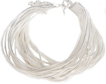 Light and Luxurious Sterling Silver Fringe Bracelet