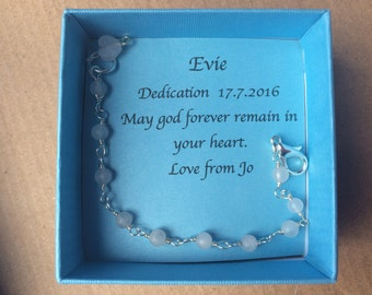 Baby Bracelet Dedication/Holy Communion/Christening Gift