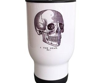 Travel Mug Vintage Skull Design