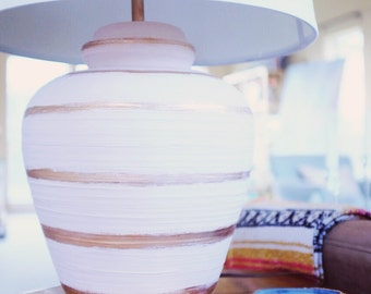 Hand Painted Vintage Ginger Jar Lamps