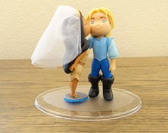 Pocahontas and John Smith Topper. Wedding Cake Topper. Pocahontas & John Smith