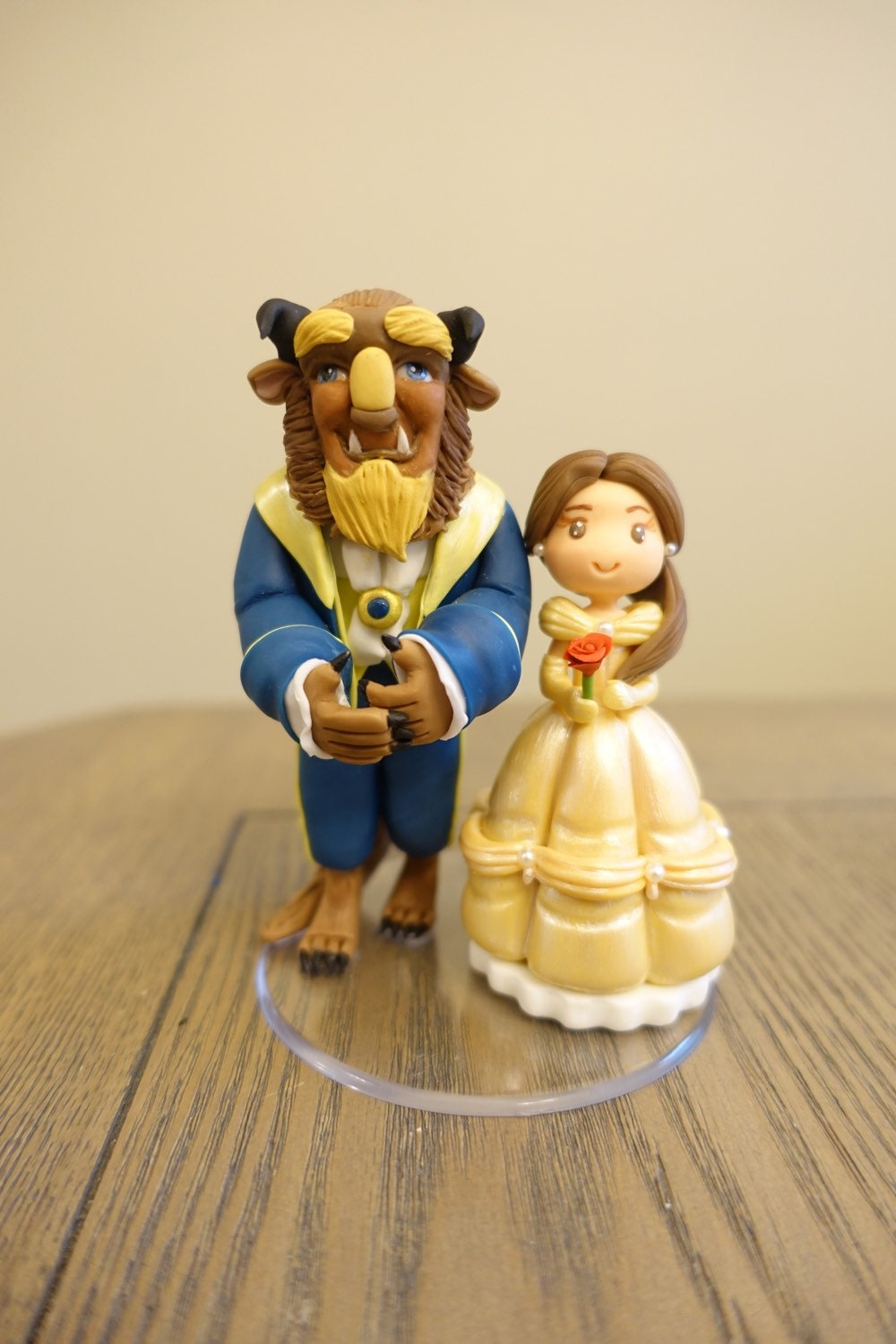 disney wedding cake toppers beauty and the beast and the beast miniature inspiration disney 13592