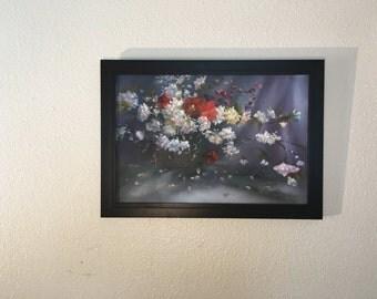 Oil Painting Dark Flowers