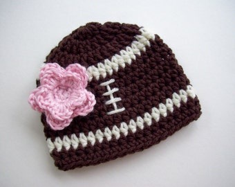 Football Crochet Hat for Boys and Girls. Photo Props