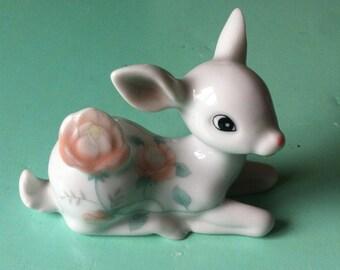 Vintage pretty fawn deer bambi figure ornament trinkets