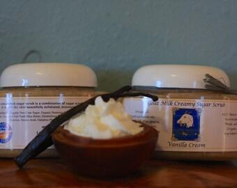 Vanilla Cream Creamy Goat Milk Sugar Scrub