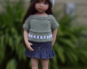 Finished Items-Sweater and Hat for Little Darling Doll 13 in