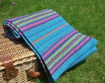 Luxury 100% Cotton Picnic Blanket Carpet Bedspread Sofa Cover Large Throw 150x210 cm