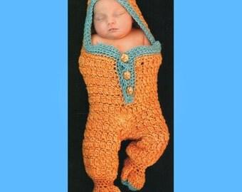 Newborn Baby Sleeping Bag Crochet Pattern, Baby Cocoon Crochet Pattern, Newborn Snuggly  Size 0 - 3 Months  PDF Instant Download