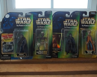 4 Star Wars Power of the Force Figure Lot - New in Packages