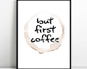 Coffee print. Digital. Printable