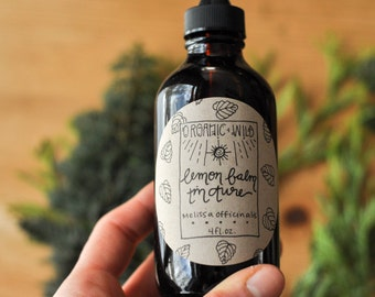 Lemon Balm Herbal Tincture Melissa officinalis