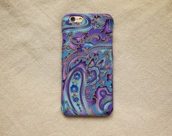 Fabric Blue Paisley Floral Fabric iPhone case iPhone 6 6S 6 Plus 6S Plus 5s 4s Samsung Galaxy Note 3 2