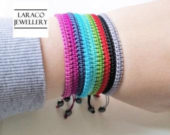 Laraco Jewellery - Square Knot Macrame Friendship Grey Cord Bracelet