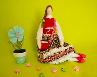 Tilda doll with bag. Rag doll.