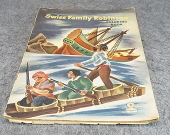 Swiss Family Robinson Coloring Book C. 1946