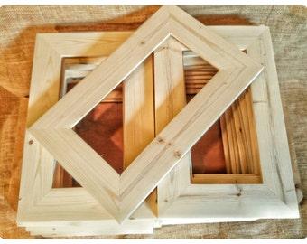 "25 Wood Frames, No Hardware or Glass, Bulk Wood Frames, 5x10"" Wood Frame, Unfinished Wood Frames, Wood Crafts Supplies, DIY Wood Frames"