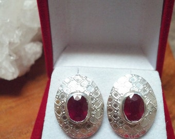 Pure .999 Silver and Natural Rubies and Sapphires