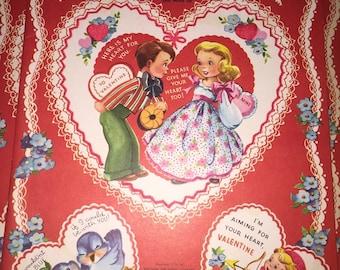 SALE!!!! Vintage Valentine's Book - COMPLETE book of 40