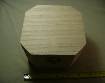 3x Unfinished Small Wood Boxes (NEW) Decorative Jewelry Box Arts and Crafts