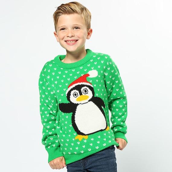 penguin 2d kids christmas jumper christmas jumper christmas. Black Bedroom Furniture Sets. Home Design Ideas