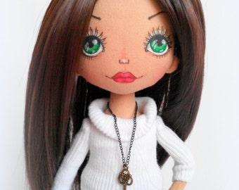 Handmade doll. art doll. girl gift. nursery decoration. rag doll. cloth doll. fabric dolls. soft toys.