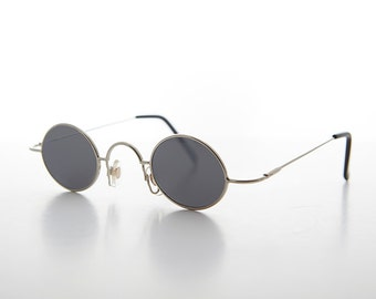 mini aviator sunglasses xwtd  Small Victorian Edwardian Oval Metal Steampunk Spectacle Vintage Sunglasses