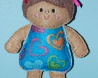 Mini Baby Dolly Softie Embroidery Machine Design for the 5x7 hoop