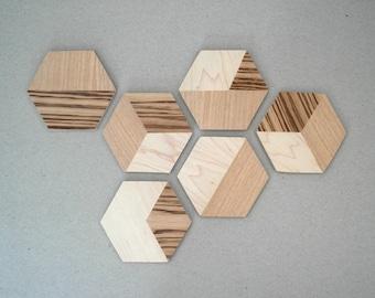 TANGRAM ///  Inlaid Coasters