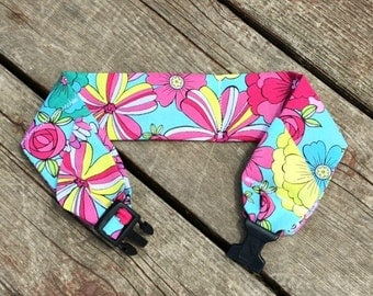 Dog Cooling Neck Collar Cooler Canine Keep Stay Cool Bandana Flower - Summer Dog Heat Relief Gel Wrap Band Pet Exercise Water Tie Gift
