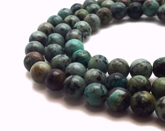 4mm Natural African Turquoise Beads Round Jasper Turquoise Jasper Turquoise Genuine Turquoise Jasper Turquoise Round Turquoise African Mala