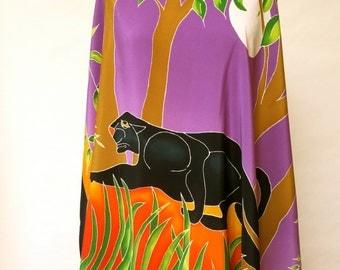 Black Panther crepe de chine Silk Women's scarf