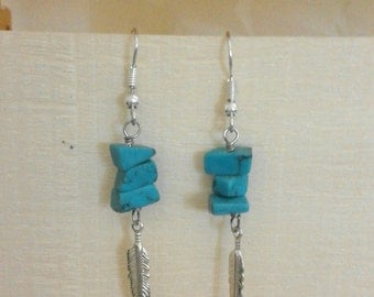 earrings with turquoise stones