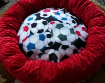Designed Cozy Soccer Dog Bed or Little Cats Bed