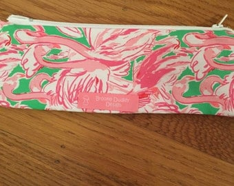 Zipper Pouch with Lilly Pulitzer Fabric
