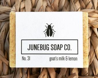 Goat's Milk & Lemon Bar Soap - Natural Soap, Goat's Milk Soap, Handmade Soap, Lemon Soap, Bar Soap, Goat Milk Soap, Homemade Soap
