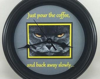 Cat Wall Clock Etsy