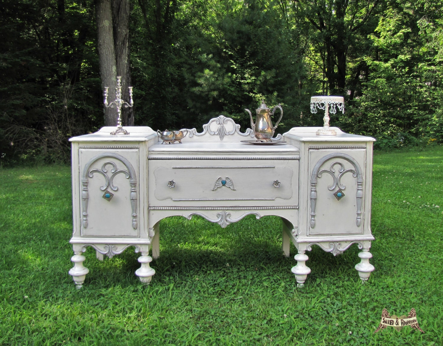 custom shabby chic buffet sideboard entryway piece. Black Bedroom Furniture Sets. Home Design Ideas